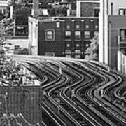 Chicago L Tracks Art Print