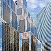 Chicago - One South Wacker And Hyatt Center Art Print by Christine Till