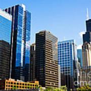 Chicago Skyline Downtown City Buildings Art Print