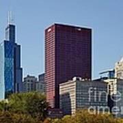 Chicago Skyline From Millenium Park Art Print