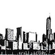Chicago Skyline Art Print by Matthew Formeller