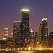 Chicago Skyscrapers With John Hancock Art Print