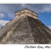 Chichen Itza Modern Seven Wonders Of The World In Mexico Art Print