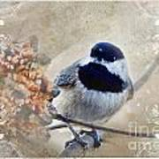 Chickadee Breakfast With Decorations Art Print