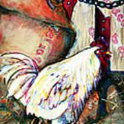 Chicken In The Barn Art Print
