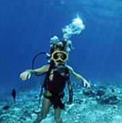 Child Scuba Diver Art Print