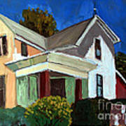 Childhood Home Plein Air Art Print by Charlie Spear