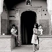 Childhood In Jaipur  Art Print
