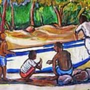 Children Of Corn Island Art Print