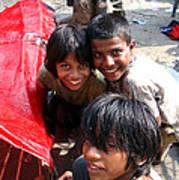 Children Of Labor In India Art Print