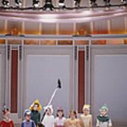 Children On Stage Art Print