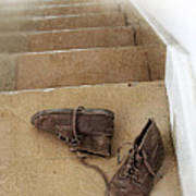Child's Shoes By Stairs Art Print