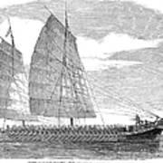 China: Junk, 1857 Art Print