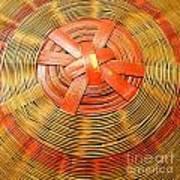 Chinese Basket Texture Art Print