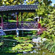 Chinese Gardens In Portland Oregon Art Print