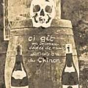 Chinon Wine  Art Print