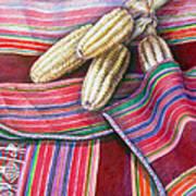 Choclos Entre Aguayos Art Print
