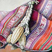 Choclos Sobre Aguayo Art Print