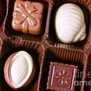 Chocolates Closeup Art Print