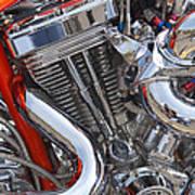 Chopper Engine Art Print
