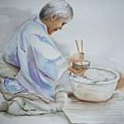 Chopsticks Iv - Rice Bowl Art Print