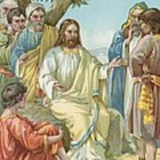 Christ And His Disciples Art Print