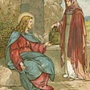 Christ And The Woman Of Samaria Art Print by John Lawson