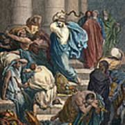 Christ At The Temple Art Print