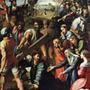 Christ Falls On The Way To Calvary Art Print