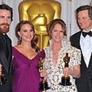 Christian Bale, Natalie Portman Art Print