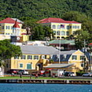 Christiansted Water Front Art Print