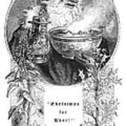 Christmas Card, 1879 Art Print