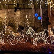 Christmas Carriages Print by DigiArt Diaries by Vicky B Fuller