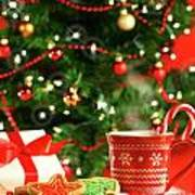Christmas Cookies  Near The  Tree  Art Print