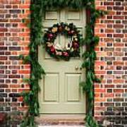Christmas Door Art Print