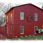 Christmas Eve At Williston Mill Art Print