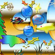 Christmas Fish Tank Art Print