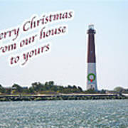 Christmas Lighthouse Card - From Our House To Yours Card Art Print