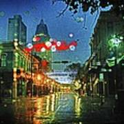 Lights At 3 Georges In Mobile Al Art Print