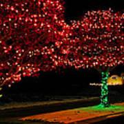 Christmas Lights Red And Green Art Print