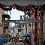 Christmas On Aviles Street Art Print by DigiArt Diaries by Vicky B Fuller