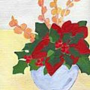 Christmas Poinsetta Art Print