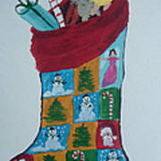 Christmas Sock Art Print