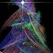 Christmas Tree 49b Star Art Print