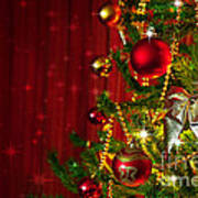 Christmas Tree Detail Art Print