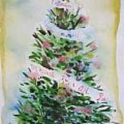 Christmas Tree Art Print by Tilly Strauss
