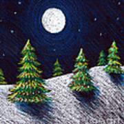 Christmas Trees II Art Print