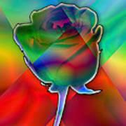 Chromatic Rose Art Print