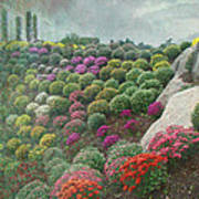 Chrysanthemum Garden - Ott's Greenhouse Schwenksville Pa Art Print