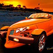 Chrysler Plymouth Prowler Rocky Sunset Art Print